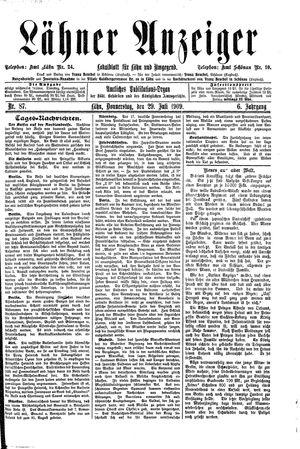 Lähner Anzeiger vom 29.07.1909