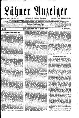Lähner Anzeiger vom 07.08.1909