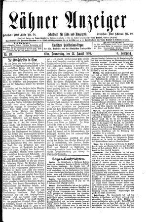 Lähner Anzeiger vom 12.08.1909