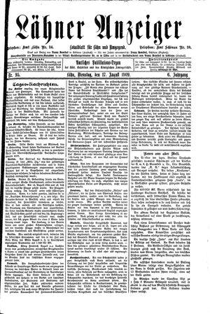 Lähner Anzeiger vom 17.08.1909