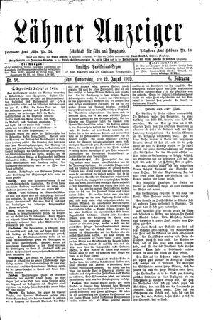 Lähner Anzeiger vom 19.08.1909