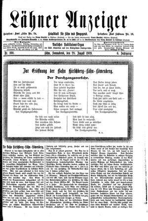 Lähner Anzeiger vom 28.08.1909