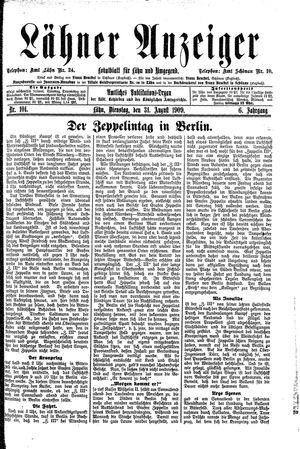 Lähner Anzeiger on Aug 31, 1909