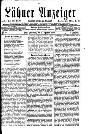 Lähner Anzeiger vom 02.09.1909