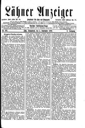 Lähner Anzeiger on Sep 4, 1909