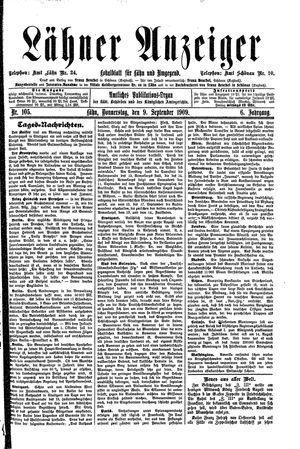 Lähner Anzeiger on Sep 9, 1909