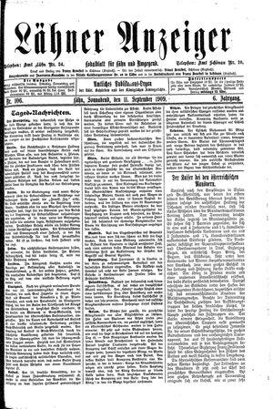Lähner Anzeiger vom 11.09.1909