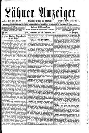 Lähner Anzeiger vom 18.09.1909