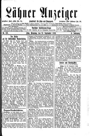 Lähner Anzeiger vom 21.09.1909