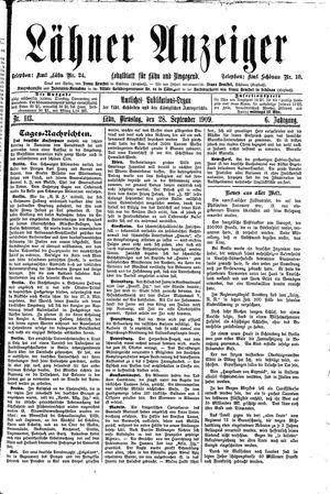 Lähner Anzeiger vom 28.09.1909