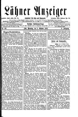 Lähner Anzeiger vom 05.10.1909