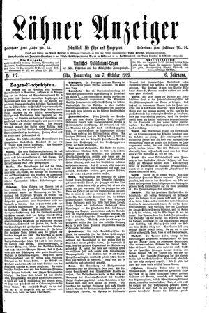 Lähner Anzeiger vom 07.10.1909