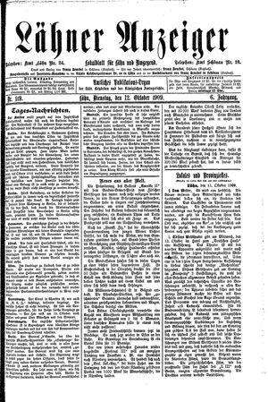 Lähner Anzeiger vom 12.10.1909