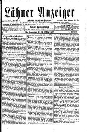 Lähner Anzeiger vom 14.10.1909