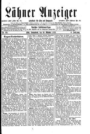 Lähner Anzeiger vom 16.10.1909