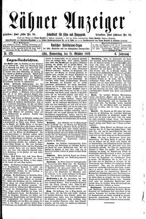 Lähner Anzeiger vom 21.10.1909
