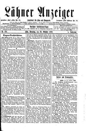 Lähner Anzeiger vom 26.10.1909