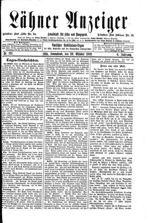 Lähner Anzeiger vom 30.10.1909