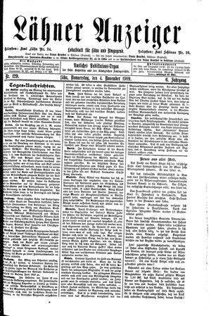 Lähner Anzeiger vom 04.11.1909