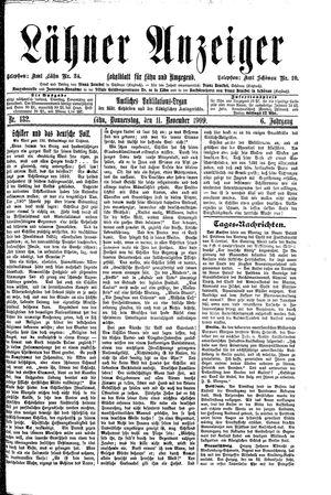 Lähner Anzeiger vom 11.11.1909