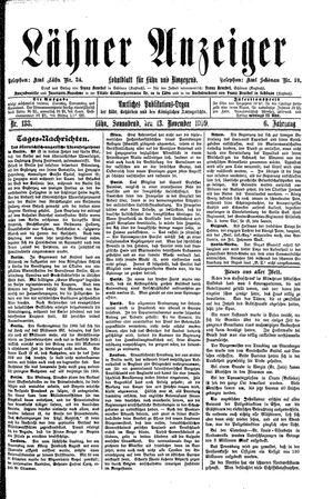 Lähner Anzeiger vom 13.11.1909