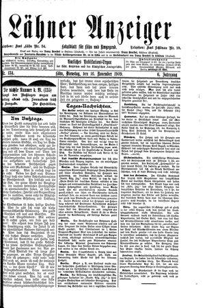 Lähner Anzeiger on Nov 16, 1909