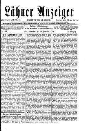 Lähner Anzeiger vom 20.11.1909