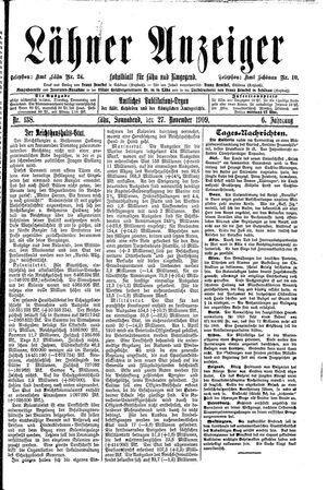 Lähner Anzeiger vom 27.11.1909