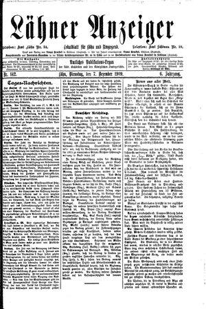 Lähner Anzeiger vom 07.12.1909