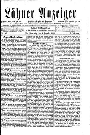 Lähner Anzeiger vom 09.12.1909