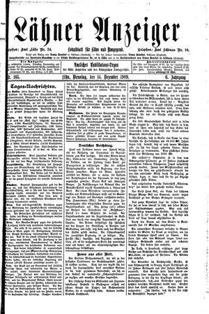 Lähner Anzeiger vom 14.12.1909