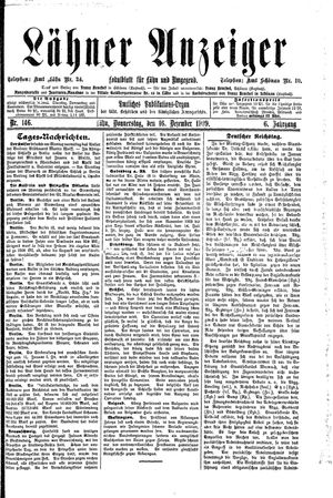 Lähner Anzeiger on Dec 16, 1909
