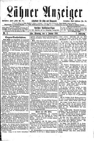 Lähner Anzeiger vom 04.01.1910