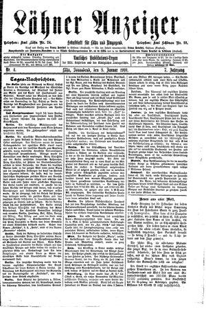Lähner Anzeiger vom 08.01.1910