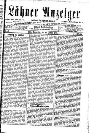 Lähner Anzeiger vom 13.01.1910