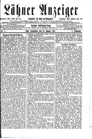 Lähner Anzeiger vom 15.01.1910