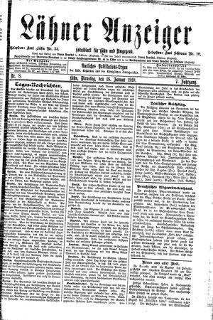 Lähner Anzeiger vom 18.01.1910