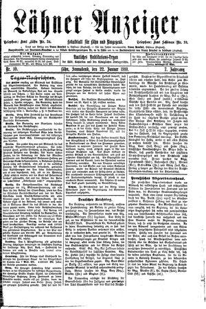 Lähner Anzeiger vom 22.01.1910
