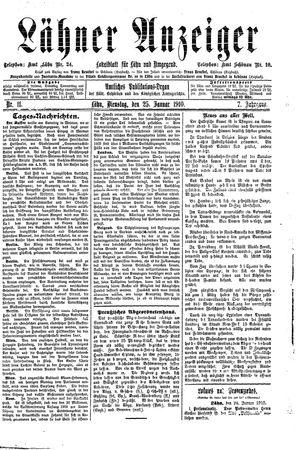 Lähner Anzeiger on Jan 25, 1910
