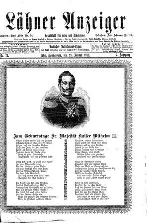 Lähner Anzeiger vom 27.01.1910