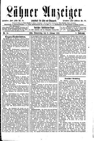 Lähner Anzeiger vom 03.02.1910