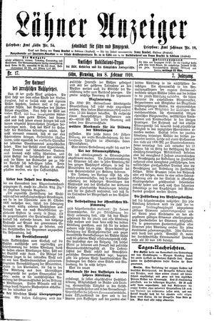 Lähner Anzeiger on Feb 8, 1910