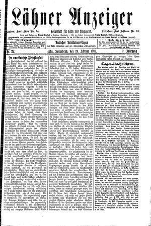 Lähner Anzeiger vom 19.02.1910