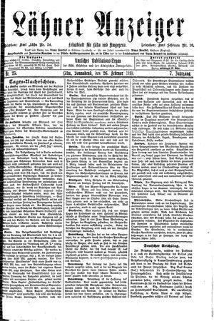 Lähner Anzeiger vom 26.02.1910
