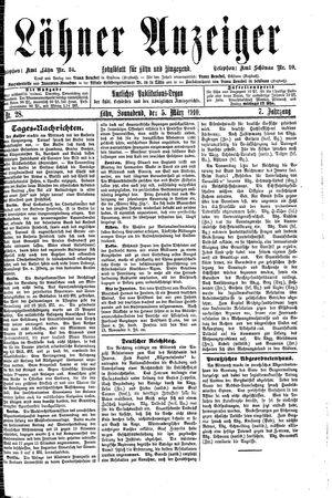 Lähner Anzeiger vom 05.03.1910