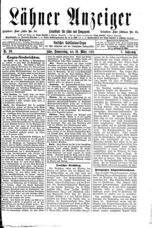 Lähner Anzeiger vom 10.03.1910