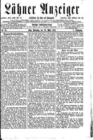 Lähner Anzeiger vom 22.03.1910