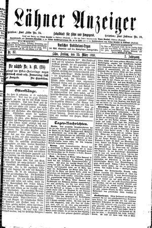 Lähner Anzeiger vom 25.03.1910