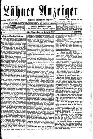 Lähner Anzeiger vom 07.04.1910