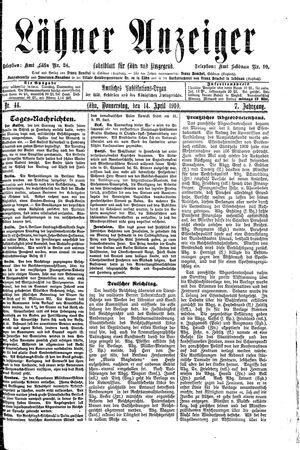 Lähner Anzeiger vom 14.04.1910
